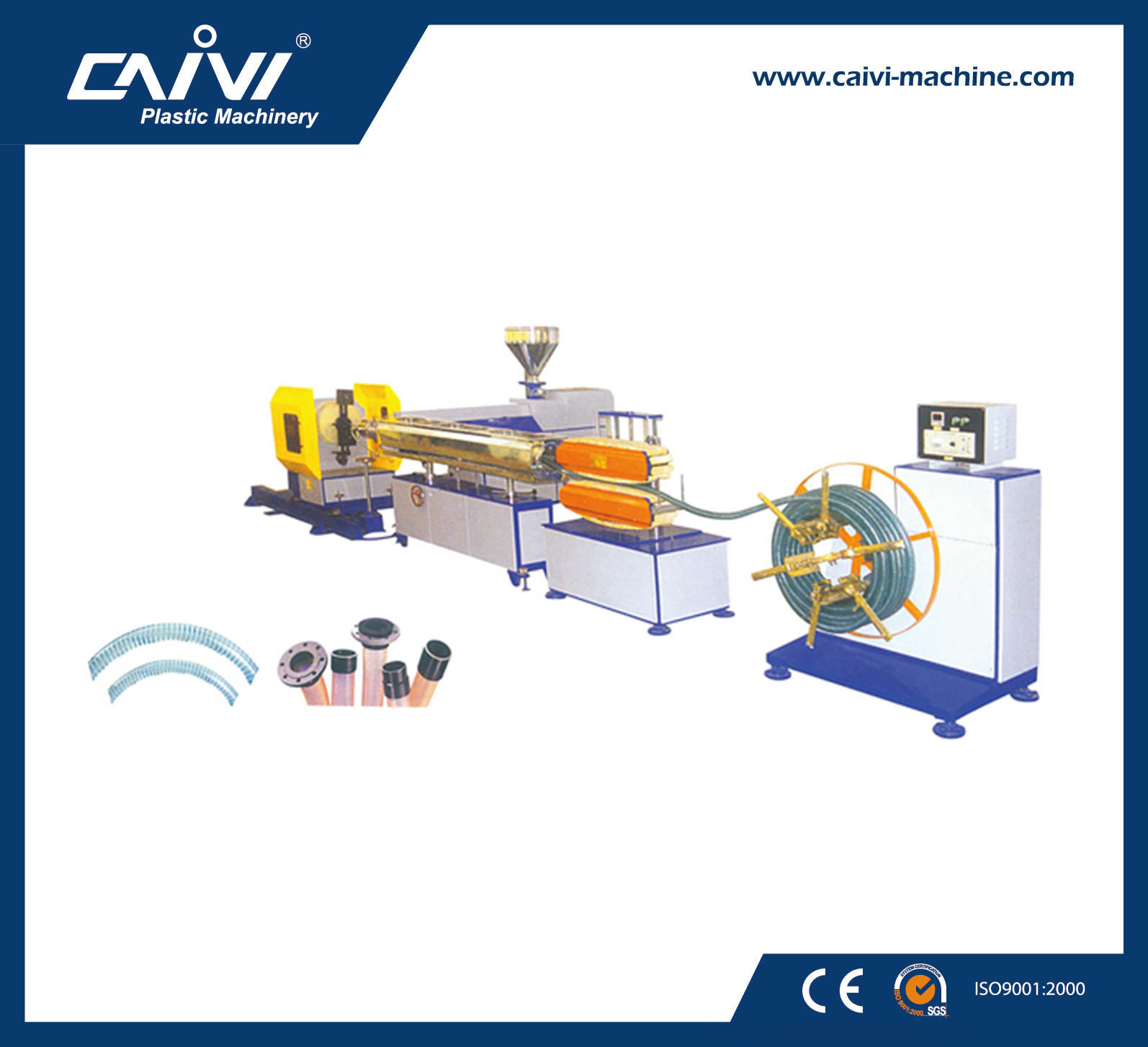 High Quality PVC Steel Wire Reinforced Hose Pipe Production Line